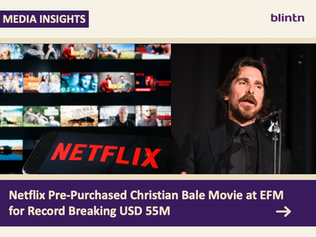 Netflix Pre-Purchased Christian Bale Movie at EFM for Record Breaking USD 55M