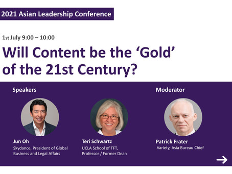 [Asian Leadership Conference] Will Content be the 'Gold' of the 21st Century?
