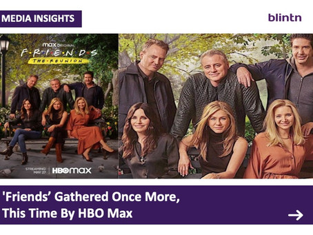 'Friends' gathered once more, this Time led by HBO Max
