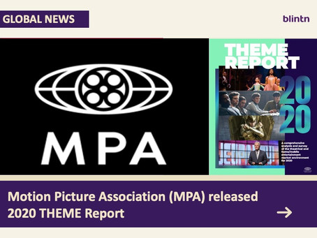 Motion Picture Association (MPA) released 2020 THEME Report, over a billion are subscribing OTT