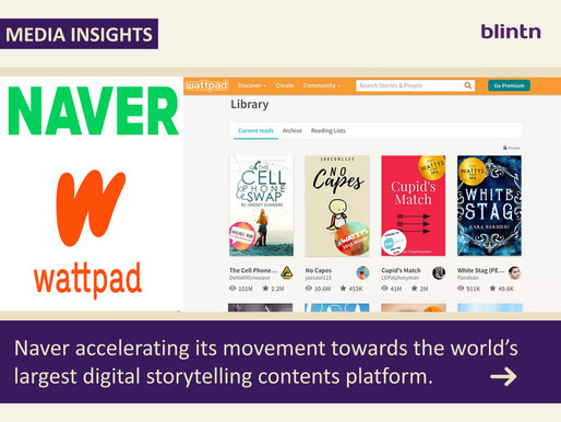 Naver accelerating its movement towards the world's largest digital storytelling contents platform.