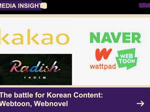 The battle for Korean content: Webtoon, Webnovel