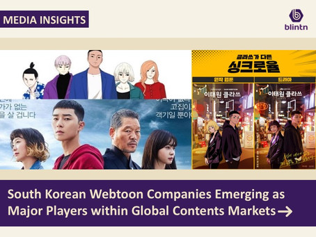 South Korean Webtoon Companies Emerging as Major Players within Global Contents Markets