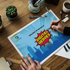 """Digital Heroes"" key visual for COSMOTE"