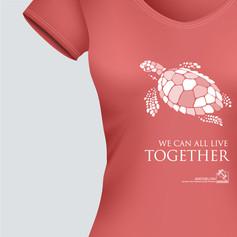 Pro bono apparel design for Archelon (sea turtle protection society)