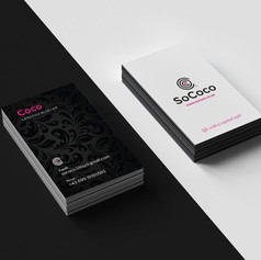 Logo and business card design for www.sococo.co.uk