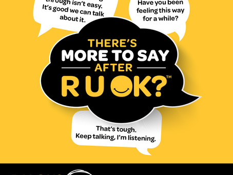 Steven Satour is encouraging mob to be Standing Strong and caring for community on RUOK?Day 2020