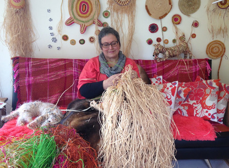 How Aunty Bronwyn's weaving is helping mob through very difficult times