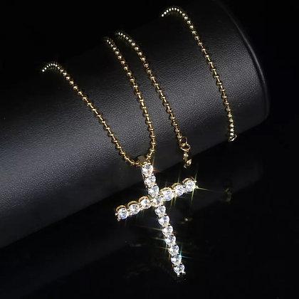 Eternity Cross Necklace
