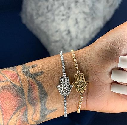 Hamsa Tennis Bracelet
