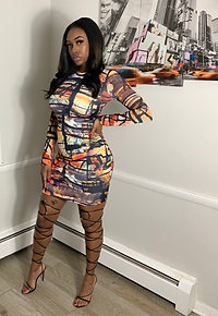 Graffiti Mini Dress
