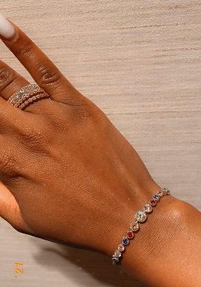 Multi Color Stone Tennis Bracelet