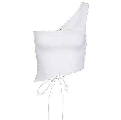 One Shoulder Crop Top