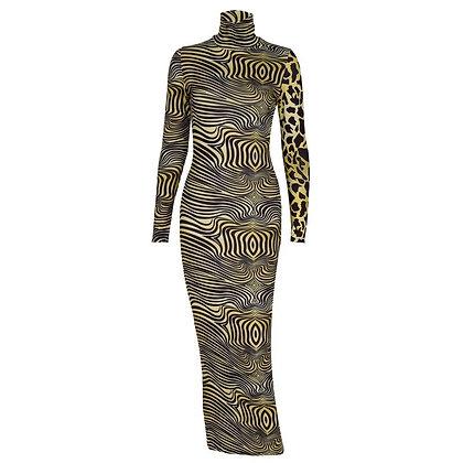 A Maze Midi Dress