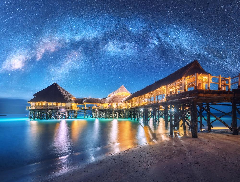 Water bungalow in Seychelles