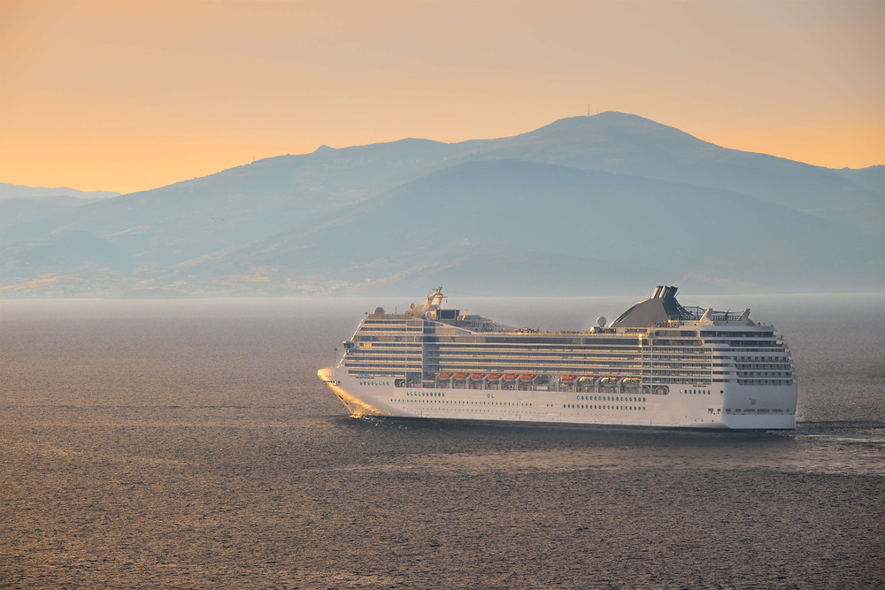 Cruise ship in Aegean Sea