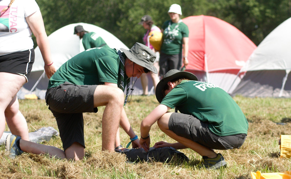 Team building and survival skills come i