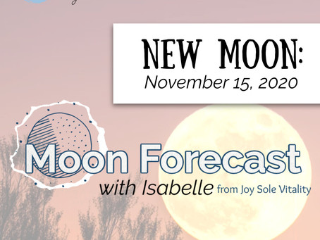 Moon Forecast with Isabelle: New Moon in Scorpio November 15