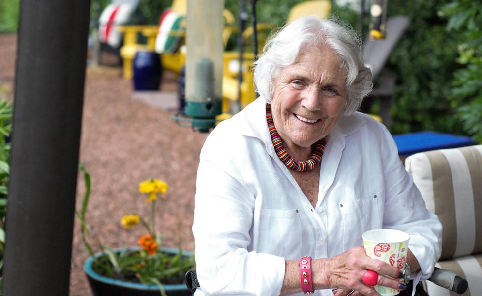 Sheila Hirsch-Kalm, rests after 40 Maste