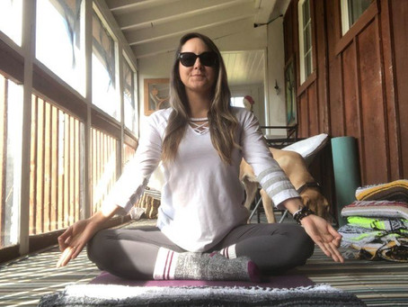Becoming an online yoga teacher: Learning to navigate a new way of teaching.
