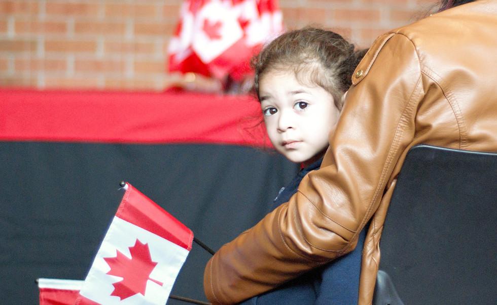 Brianna at Canadian Citizenship Ceremony