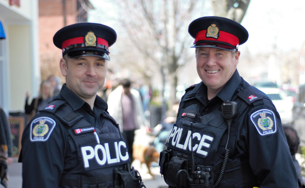 NRP officers M. Malachowski and B. Cridd