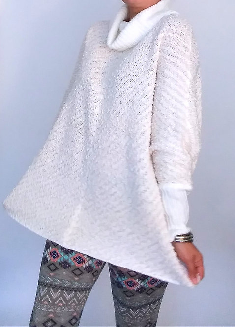 Over Sized White Sweater