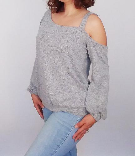 Light Grey Long Sleeve Top