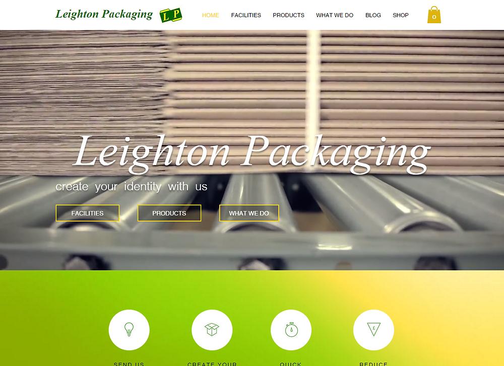 Leighton Packaging website