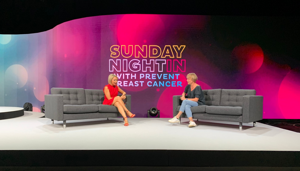 Sunday Night In Prevent Breast Cancer virtual production