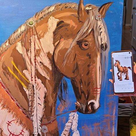 Painting Horsey