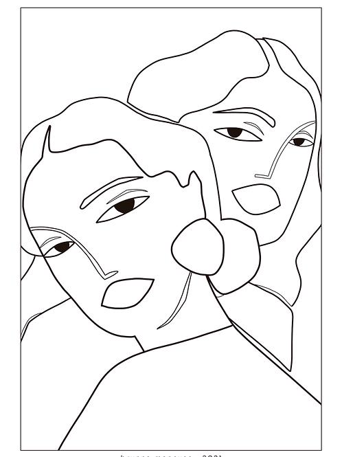 Duo (risco de bordado)