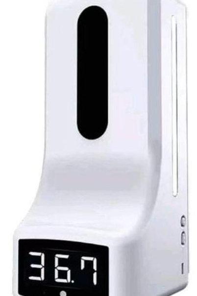 Dispensador de gel con termómetro