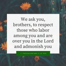 1 Thessalonians 5:12