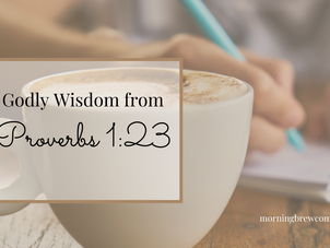 Godly Wisdom from Proverbs 1:23