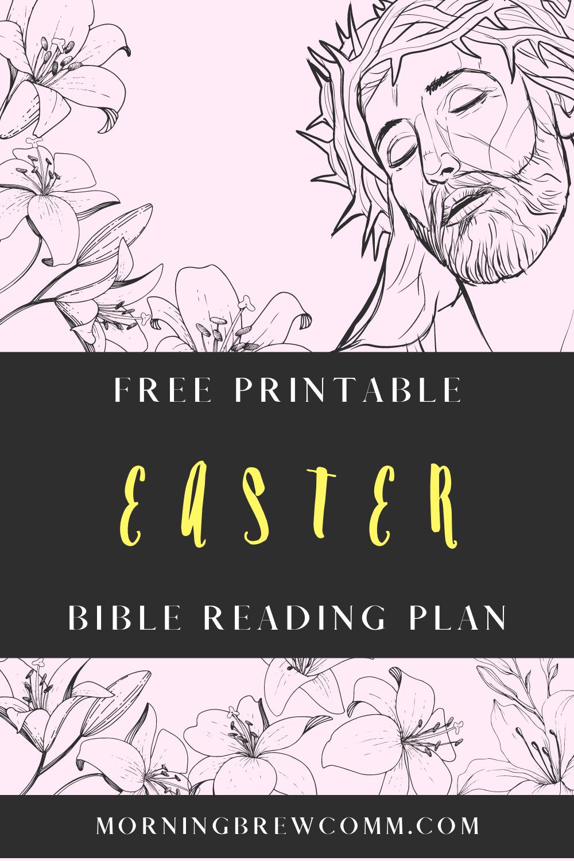 Free printable Easter Bible reading plan