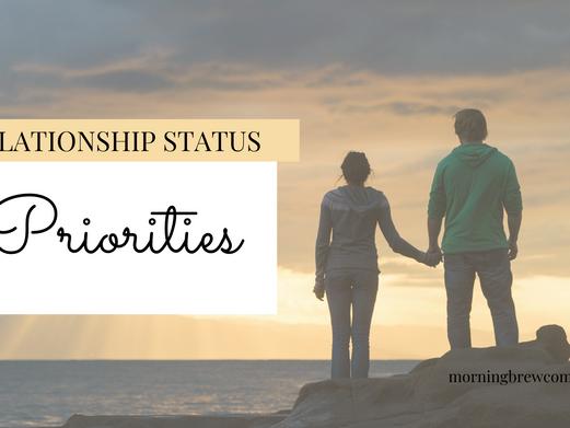 Relationship Status: Priorities