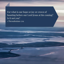 1 Thessalonians 2:19