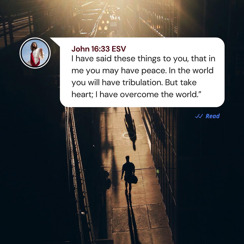 John 16:33 ESV Bible verse