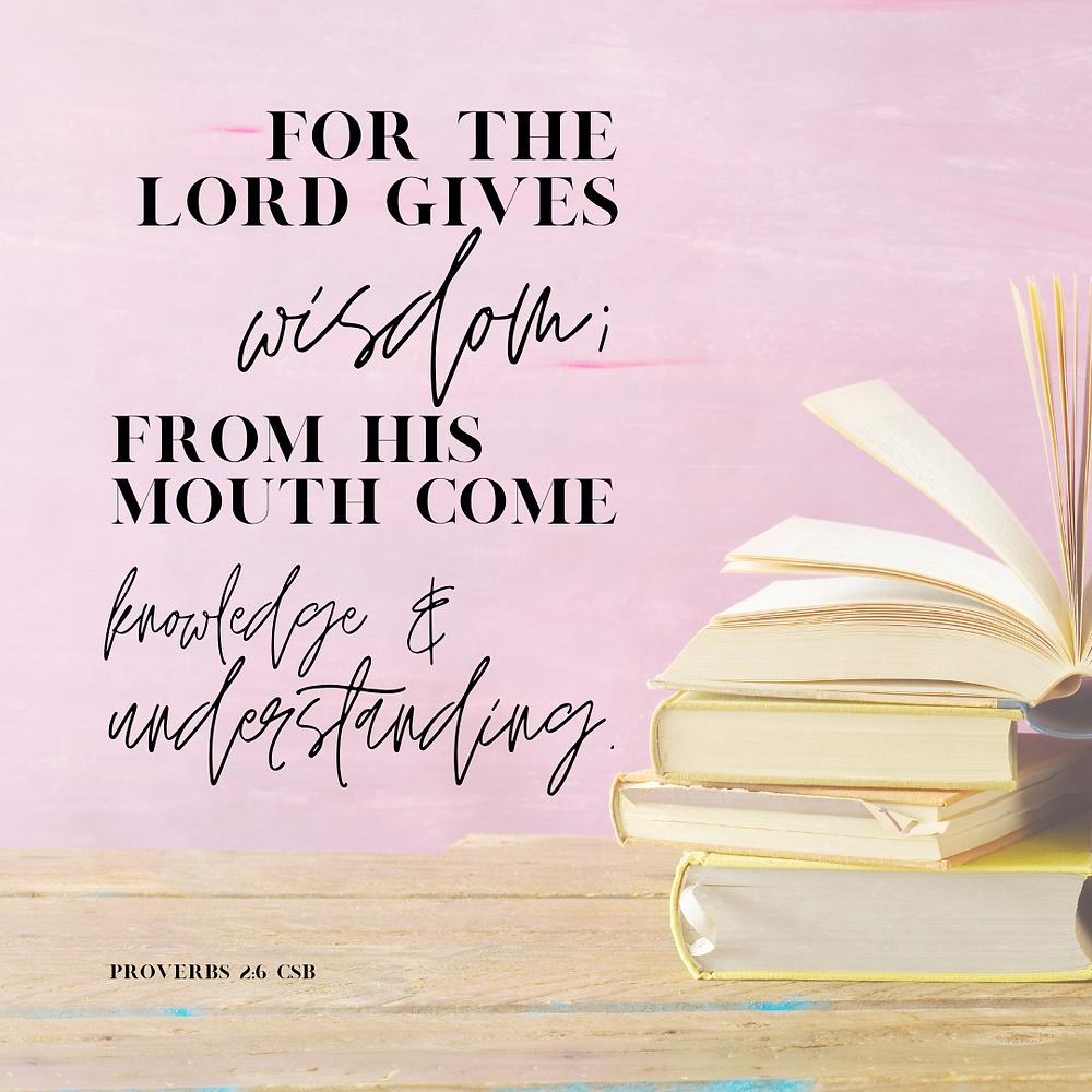 Proverbs 2:6 CSB Bible verse