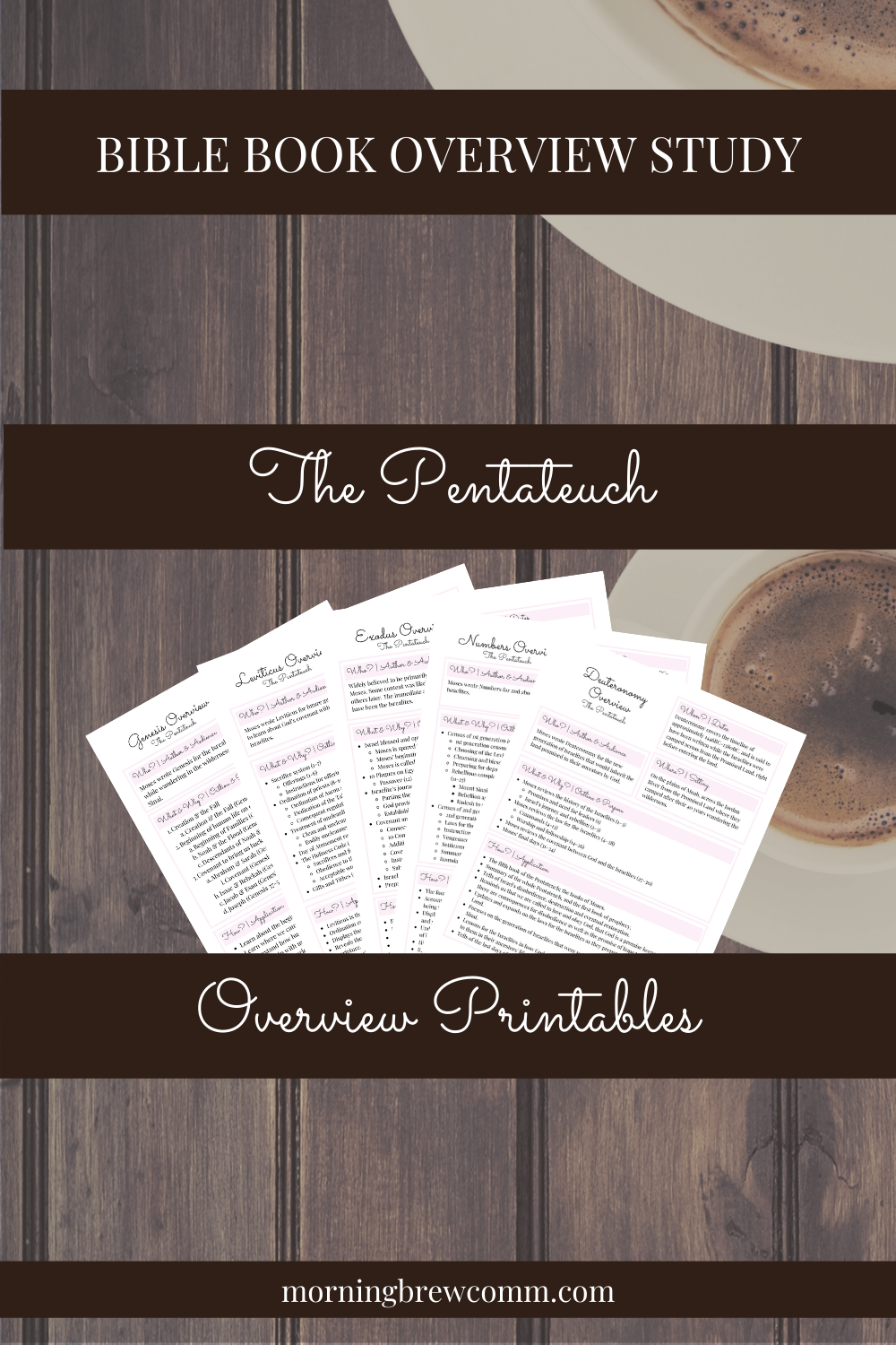 Free Printable Pentateuch Bible Book Overview