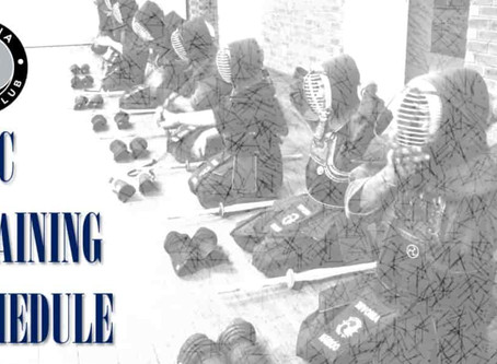 Change In Training Schedule at the Rivonia Kendo Club