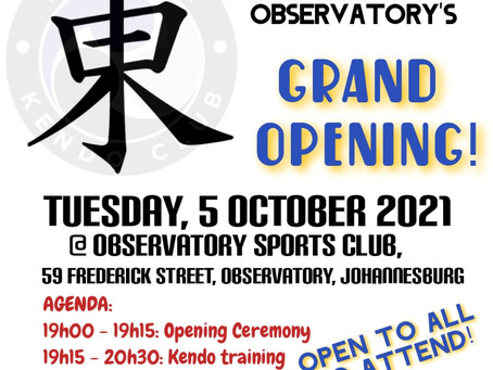 Opening of the RKC Dojo Observatory on 5 OCT 2021
