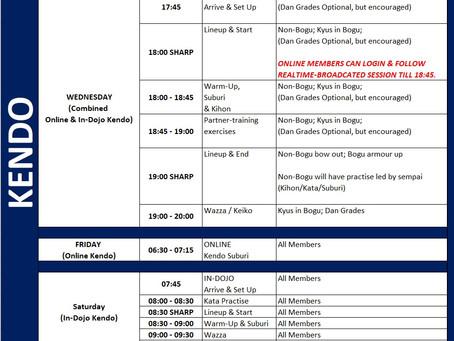RKC Summer Schedule and Training Agenda