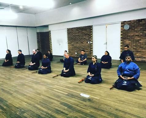 Meditation at the Rivonia Kendo Club Johanesburg South Africa