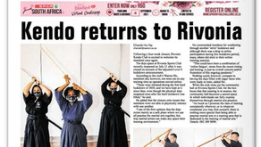 Rivonia Kendo Club in the Newspapers again
