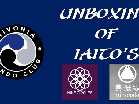 Unboxing of Minosaka Iaito's from Nine Circles