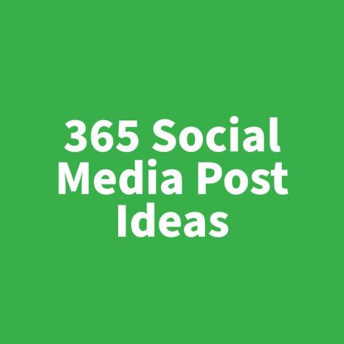 365 Social Media Post Ideas