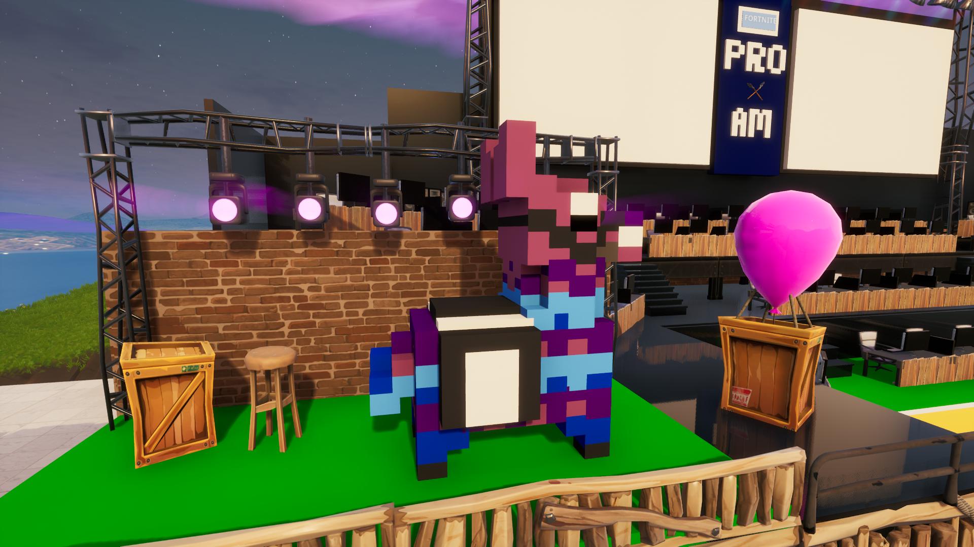 Custom 3D Pixel Art Llama
