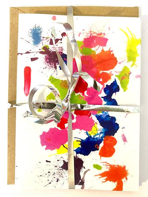 Greetings Cards - Pack of 4 or 10 - Splash of Paint 2
